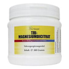 Pro Natural Tri-Magnesiumdicitrat- 500g hochwertiges Magnesium Citrat wasserfrei