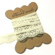 5 Metres Ivory 10mm Frilly Guipure Edge Knicker Elastic