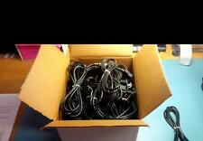 LOT OF (24) NEW 6 FOOT RIGHT ANGLE MALE 3 PRONG 18-3 POWER CORDS WITH PASS THRU