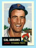 1953 Topps Archives #98 Cal Abrams - Pittsburgh Pirates