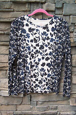 Tory Burch Blue Black Ivory Pima Cotton Top - Sz M – Almost Mint Cond