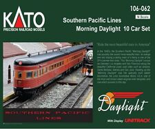 "Kato 106-062 N Scale Southern Pacific Lines ""Morning Daylight"" 10 Car Set"