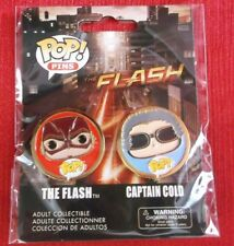 FUNKO POP PINS TV SERIES SET OF 2 THE FLASH CAPTAIN COLD NEW ADULT COLLECTIBLE