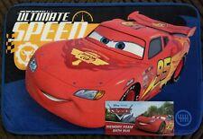 "Disney Pixar Cars ULTIMATE SPEED Memory Foam Bath Rug 15""X 23"" INCH"