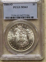 1884-O $1 Morgan Silver Dollar PCGS MS63 - BRIGHT WHITE