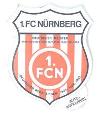 1. FC Nürnberg Aufkleber Sticker Logo Bundesliga Fussball #223