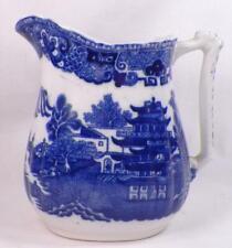 Wedgwood Willow Milk Pitcher Large Creamer Semi Porcelain Blue White Vintage