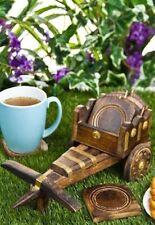 Unique Wooden bullock Cart  Tea Coffee Coaster Set Home Decor Set Gift Item