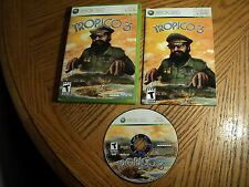 Tropico 3 (Microsoft Xbox 360, 2010) Complete   .