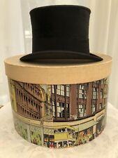 Vintage Black Silk Top Hat - Size 6 3/4 (54cm)