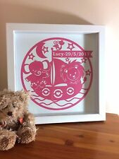 NURSERY/BEDROOM PERSONALISED PICTURES - Celebrating birth of baby or birthday.