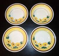 "(4) Vernon Kilns BROWN EYED SUSAN 5 1/2"" Fruit/ Dessert Bowls"