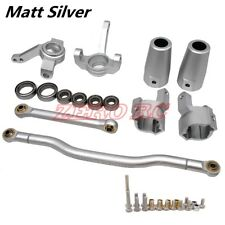 SCX10 Upgraded Parts CNC Alloy Steering Link, Knuckle C Hub, Lockout Matt Silver