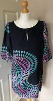 Monsoon 100% Silk Lined Tunic Dress Back Uk 14