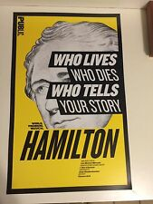 HAMILTON off-Broadway WINDOW CARD Poster Lin-Manuel Miranda RARE MINT