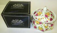 ROYAL GLOUCESTER LIDDED BOWL FINE PORCELAIN COUNTRY ROSES BOXED IDEAL XMAS GIFT