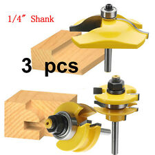 3pcs 1/4 Inch Shank Ogee Rail and Stile Ogee Raised Panel Router Bit Set