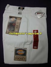 Dickies Mens 85283 WH Loose Fit Double Knee Multi Use Pocket Work Pant White