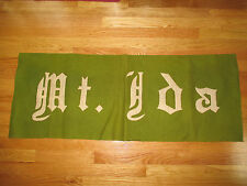 "Vintage MT IDA COLLEGE Stitched 48"" x 17.5"" Pennant Banner"