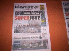 GAZZETTA DELLO SPORT 19/08/2013 LAZIO-JUVENTUS FC 0-4 WINNER SUPERCUP ROMA