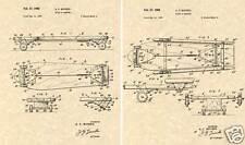 Vintage 1962 Skateboard Patent Art Print Ready to Frame Deck Truck