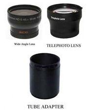 Wide + Tele Lens + Tube bundle for Panasonic DMC-FZ45 DMC-FZ45E FZ45K FZ45EB-K