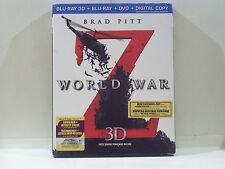 WORLD WAR Z 3D BLU-RAY DVD 2013 NEW