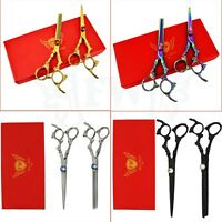 Professional Hairdressing Scissors Barber Salon Hair Cutting Thinning Shears Set