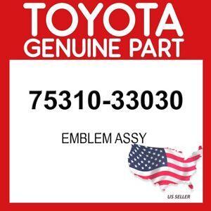 TOYOTA GENUINE OEM 75310-33030 EMBLEM ASSY 7531033030