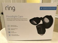 "Ring Outdoor Wi-Fi Cam with Motion Activated Floodlight, BLACK ""NEW"""
