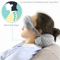 Neck Pillow Eye Mask Portable Travel Head Cushion Flight Airplane Rest Relief