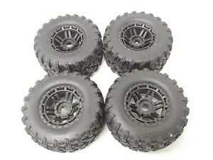 1/10 MAXX Wheels & Tires (Factory Glued Assembled (set 4) NEW Traxxas 89076-4
