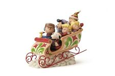 Peanuts Charley Brown Gang Sleigh Ride Jim Shore, Christmas 4052722  #sjan17-17