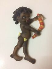 Vintage Brownie Downing Wall Plaque 50s 60s Australian Pottery