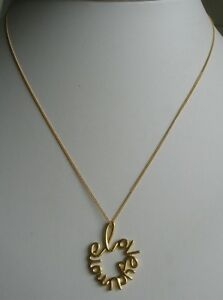 GOLD PLATED 925 SILVER 'LOVE YOU MORE' PENDANT ON A 16 INCH CURB CHAIN NECKLACE