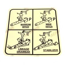 LINKAGE SETTING DECAL FITS DAVID BROWN 770 780 880 885 990 995 996 TRACTORS.