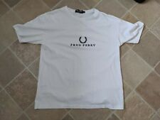 Fred Perry white Womens T Shirt Size 12