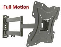 Full Motion TV Wall Mount Articulating Bracket 24 32 39 40 55 LED LCD FlatScreen