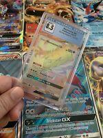 Pokemon Card Graded - Necrozma GX - Burning Shadows 🌈 Rainbow Secret Rare