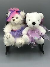 "First & Main Scraggles & Cubby Teddy Bears With Tutus Plush 9"" Stuffed Animal"