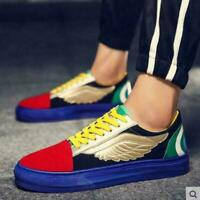Mens Multicolor Lace Up Skateboard Hip-hop Casual Shoes Sneakers Flat Board Shoe