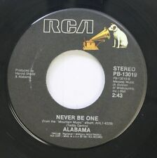 Country 45 Alabama - Never Be One / Mountain Music On Rca