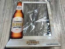 🔥 Guinness & Blonde Beer American Lager No1 Table 2015 Menu Sign Stand 41556F