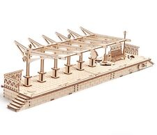"The UGEARS Model ""RAILWAY PLATFORM"" 3D wooden puzzle (Box Damaged)"
