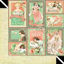 Graphic45 CONGRATULATIONS 12x12 Dbl-Sided Scrapbooking (2) Papers VINTAGE