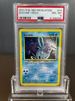 Suicune Holo Pokemon Card Unlimited Neo Revelation 14/64 BGS PSA 8 NM-M