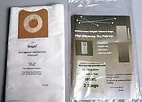 Ridgid 2 Vacuum Bags 14 - 16 Gallon VF3502 High Efficiency Drywall & Fine dust