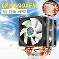 CPU 2 Cooling Fan Cooler Heatsink Desktop PC Processor For LGA 755/1151/1155 AMD