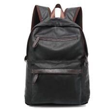 Oil Wax Leather Backpack Men Western College Style Casual Zip Travel Bags