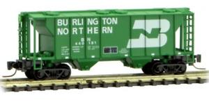Micro Trains Z Scale Burlington Northern BN 2-Bay Covered Hopper 531-00-312